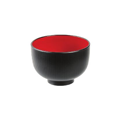 Czarno czerwona miska do miso 10,5 cm